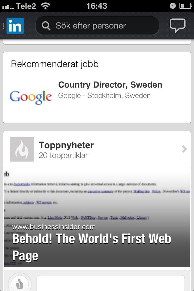 linkedin google vd sverige jobb