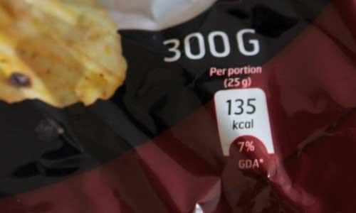 Kalorier per portion chips