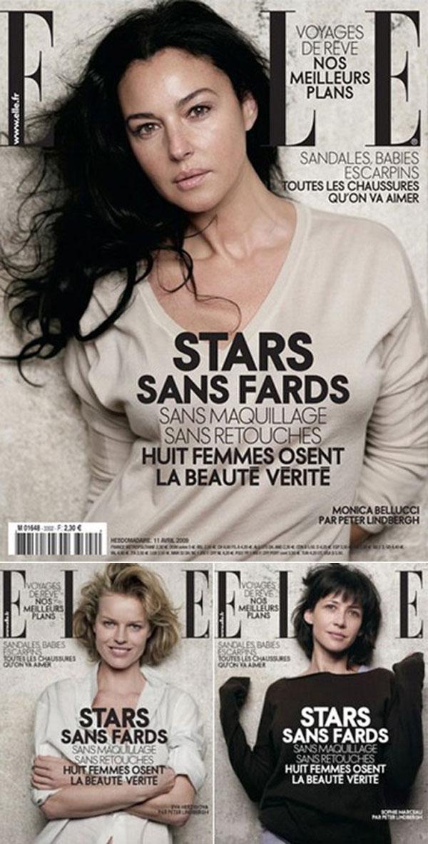 Ingen retusch på omslaget till franska ELLE.